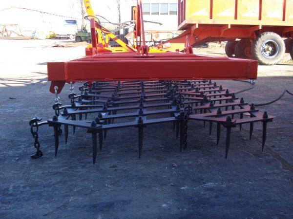 Rama bron 7 polowa z hydrauliką i POSZERZANYMI POLAMI BRON szerokość robocza 8.0 metra