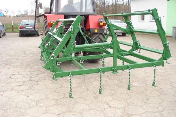 Rama bron 8 polowa z hydrauliką, szerokość robocza 4.50 metra