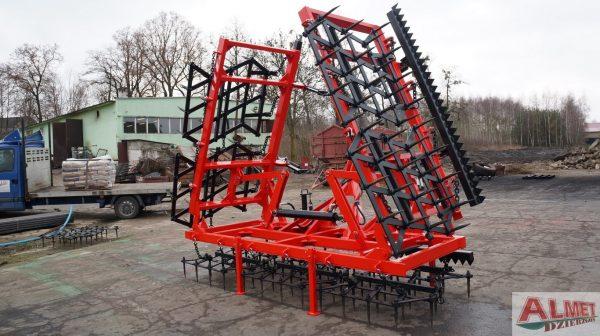 Brony 7 polowe z hydrauliką i WŁÓKĄ UCHYLNĄ, szerokość robocza 7.50 metra